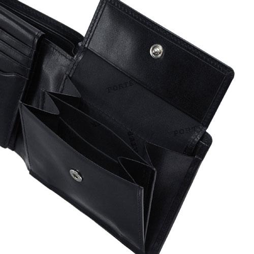 ポーター二つ折り財布の小銭入れの部分