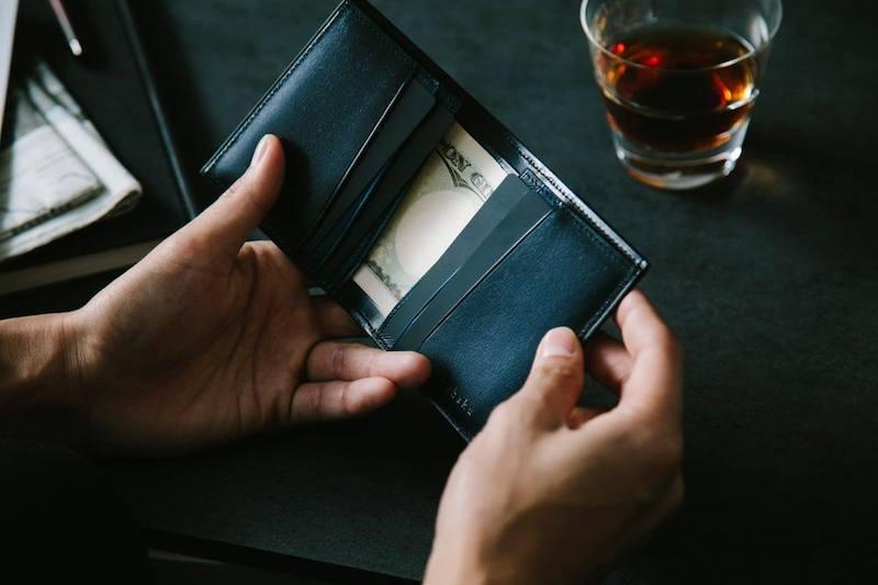 ユハクの二つ折り財布エヴォシリーズ