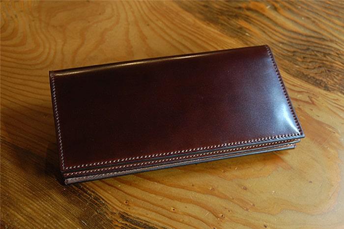 無二のコードバン長財布