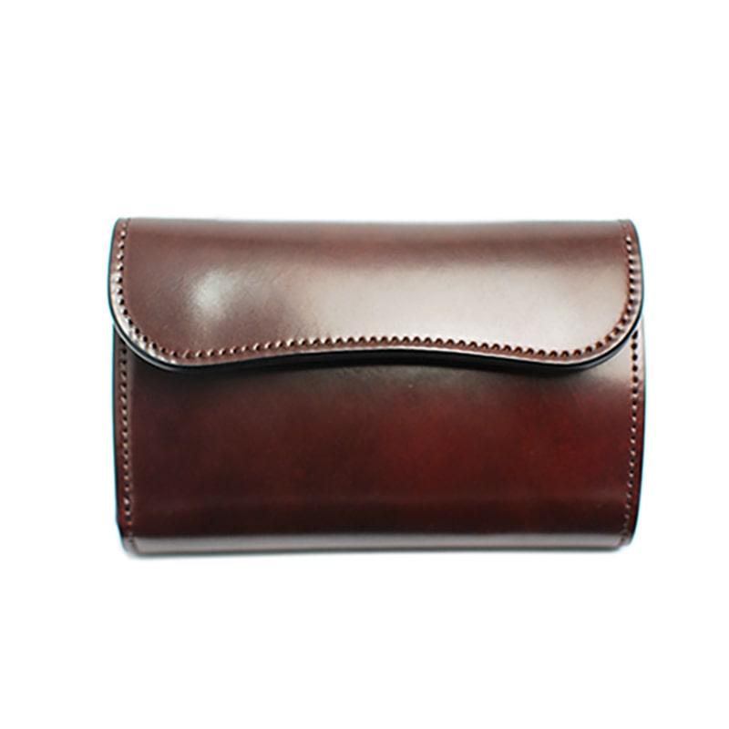 ワイルドスワンズのコードバン三つ折り財布