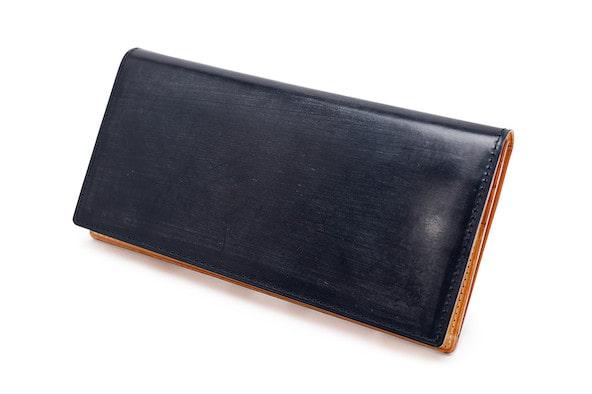 ガンゾのシンブライドルレザー長財布