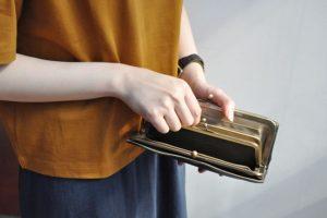 クレドランのがま口長財布は口が大きく使いやすい