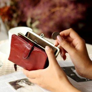 ダコタのがま口二つ折り財布