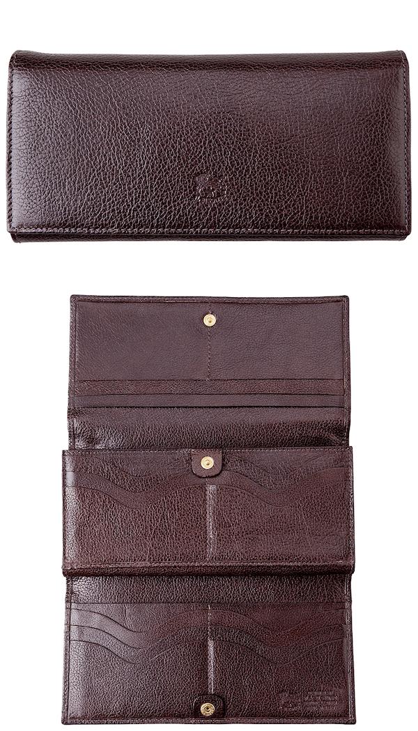 イルビゾンテの女性向き長財布は収納も多い