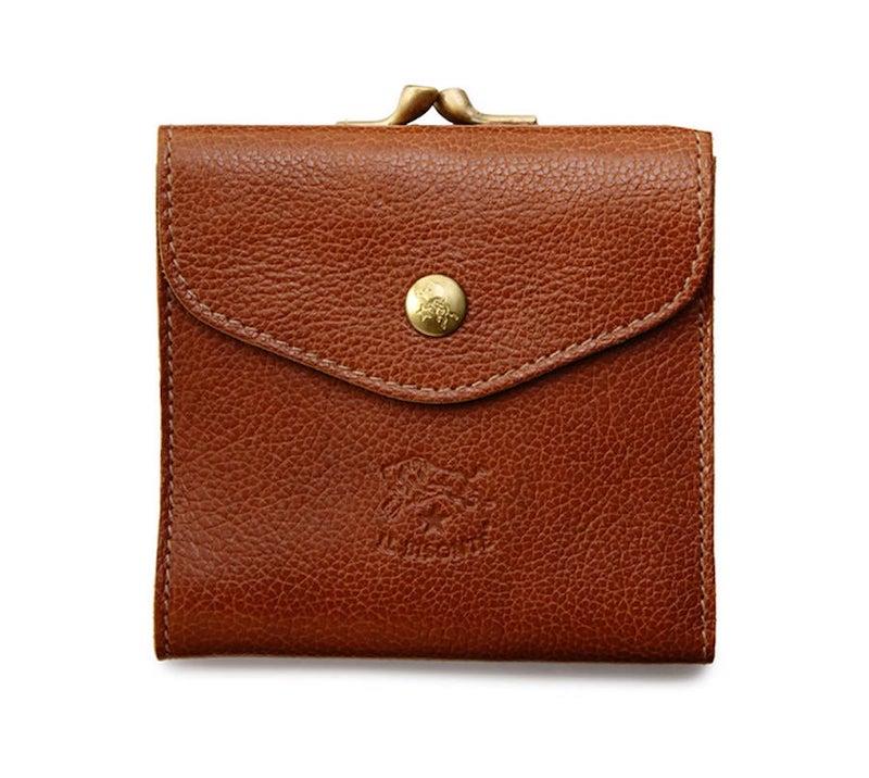イルビゾンテのがま口二つ折り財布