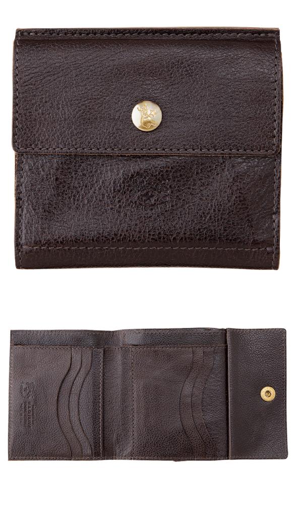 イルビゾンテ二つ折り財布の外装と内装