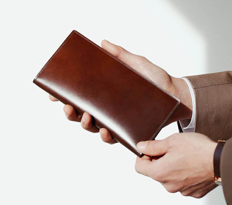 土屋鞄製造所のベルコードバン財布