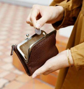 土屋鞄製造所のがま口二つ折り財布