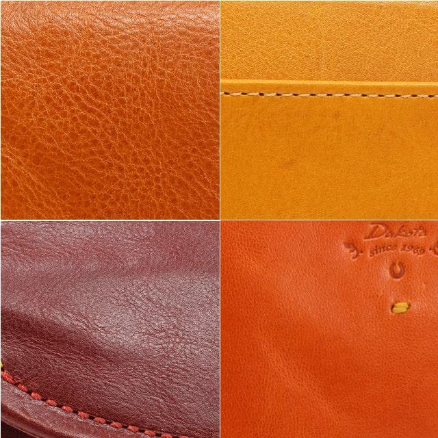 ダコタの革財布の表面の様子