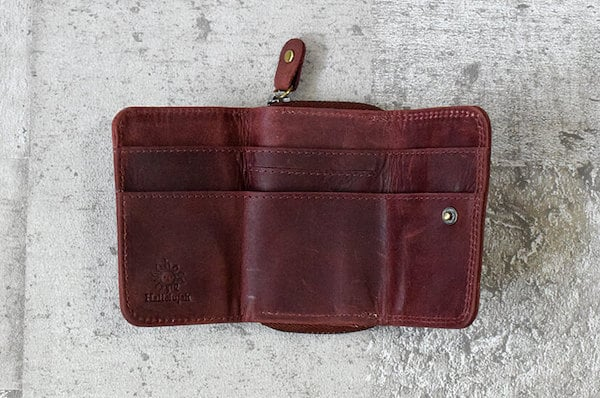 ハレルヤのミニ財布の内装