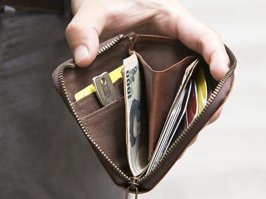 sliceのコンパクト財布の内装