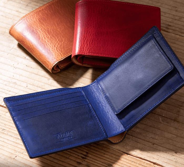 アヤメアンティーコの二つ折り財布