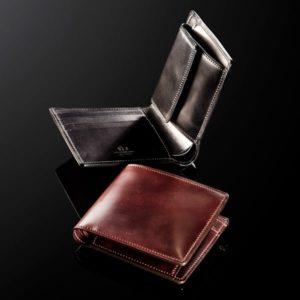 ココマイスターのシェルコードバン 二つ折り財布