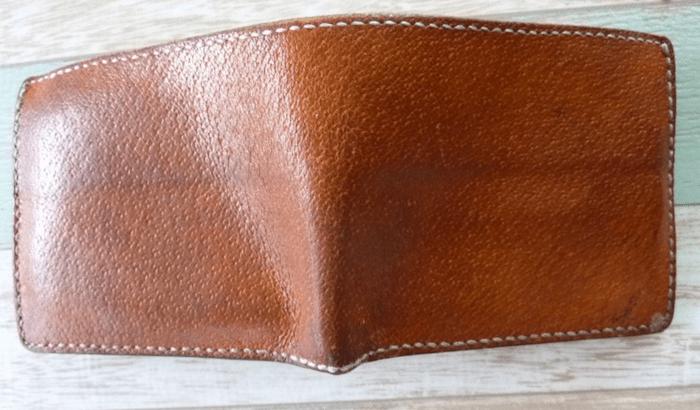 豚革財布の経年変化