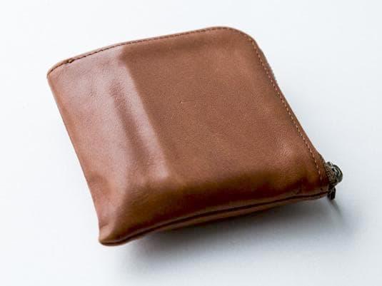 スライスのコンパクト財布の経年変化の様子