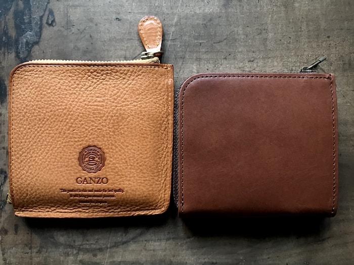 sliceのコンパクト財布とganzoのミニ財布のサイズ比較