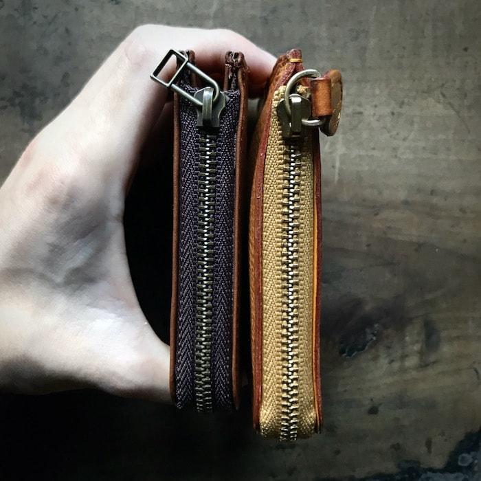 sliceのコンパクト財布の厚み