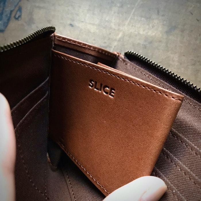 sliceのコンパクト財布の小銭入れ
