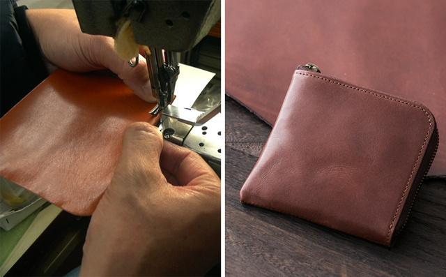 スライスのコンパクト財布は栃木レザーをつかった職人仕上げ
