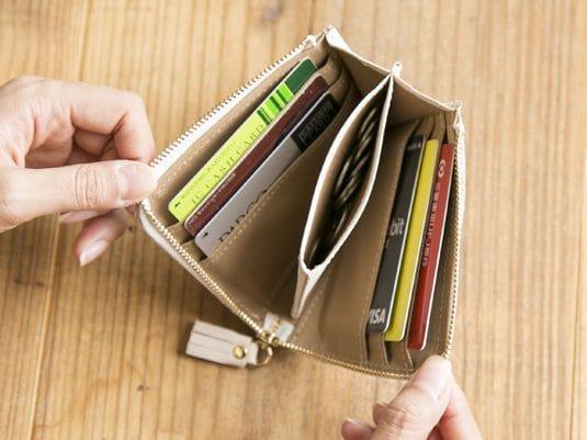 ポンタタのレディースミニ財布の収納力