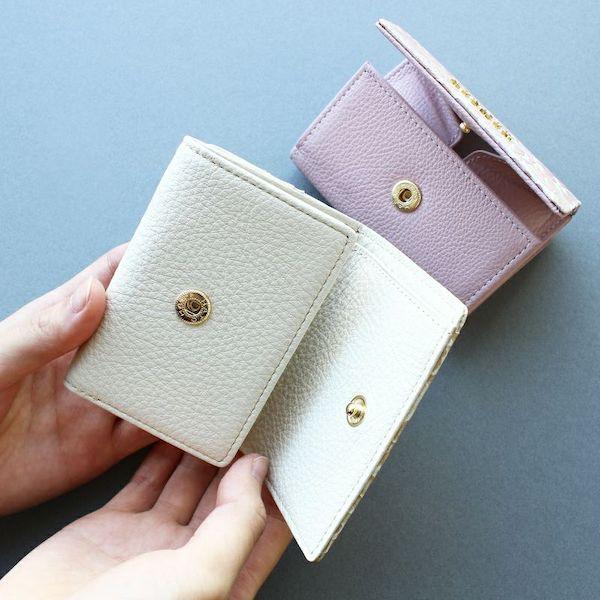 エーテルのレディースミニ財布は内装まで上品な本革