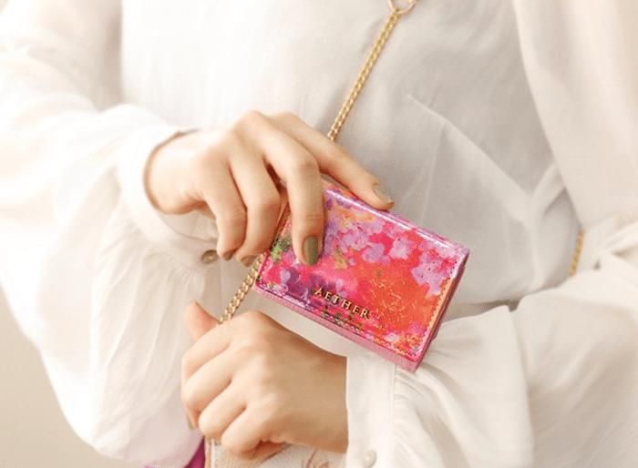 エーテルのレディース三つ折り財布
