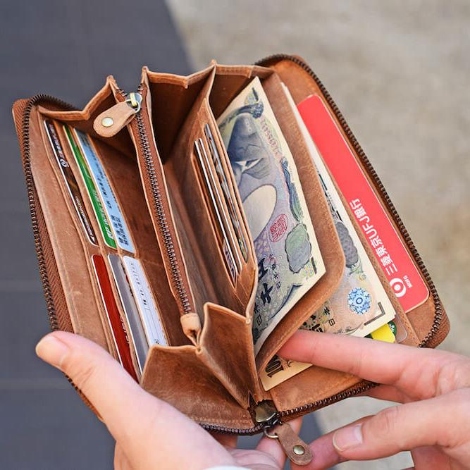 ハレルヤの1万円以下の革財布の収納力
