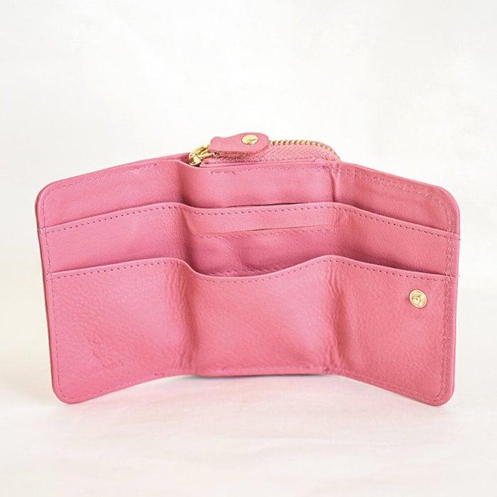 ハレルヤの三つ折り財布の内装