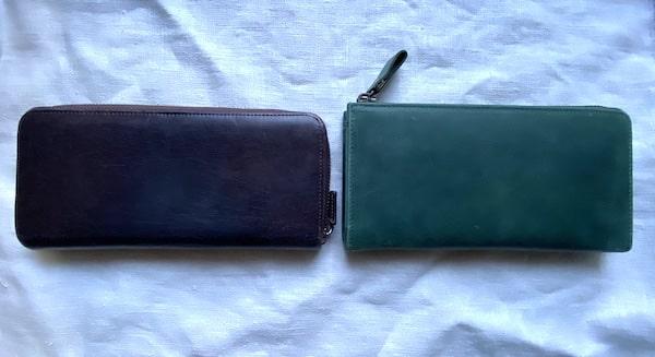 ハレルヤの長財布のサイズ比較