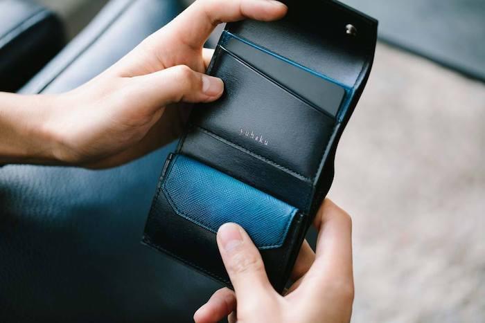 ユハクのレディース三つ折り財布の内装