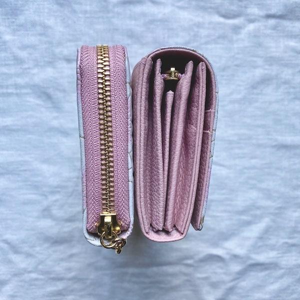 エーテルの長財布の厚みの比較