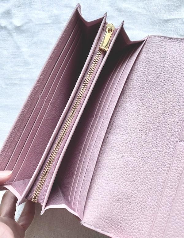 エーテルのかぶせ長財布の内装