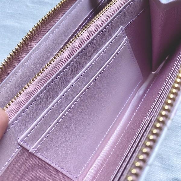 エーテルの長財布の収納ポケット