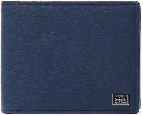 1万円台のポーターのメンズ二つ折り財布(型押し加工)