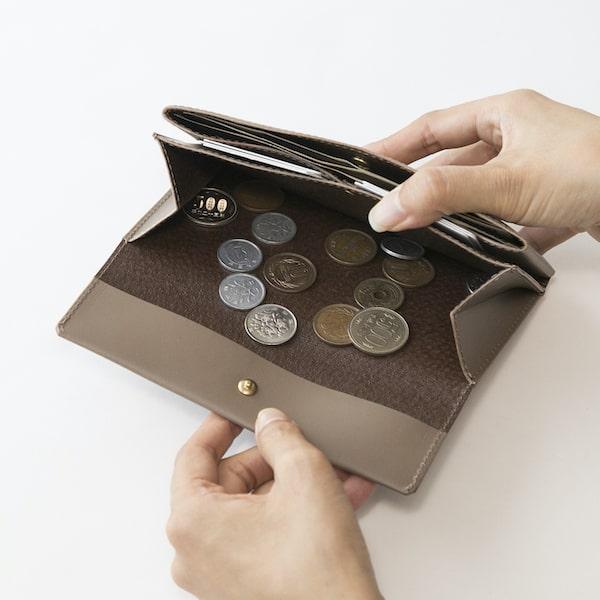 母の日ギフトにおすすめのsafujiの財布の小銭入れ