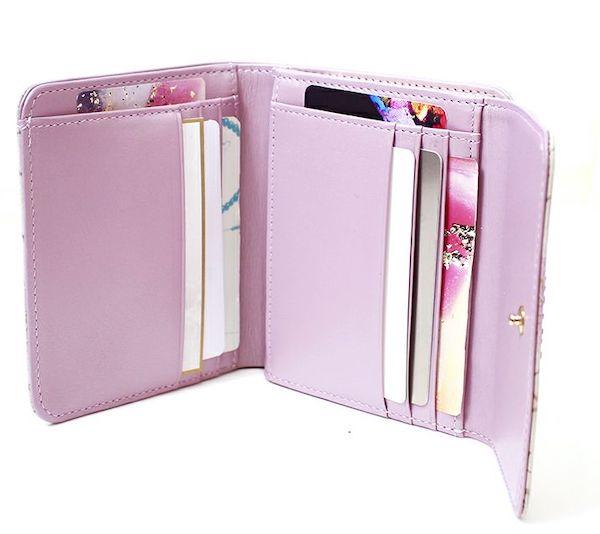 エーテルのレディースがま口財布の内装