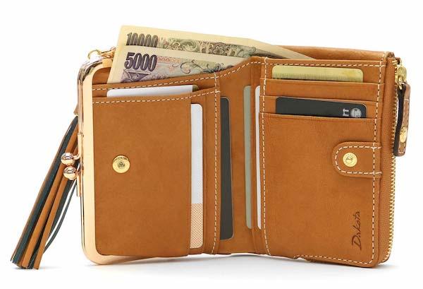 ダコタのレディースがま口財布の内装
