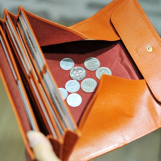 濱野皮革工藝のレディース長財布のギャルソン小銭入れ