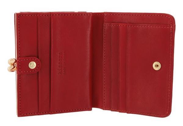 キソラのレディースがま口財布の内装