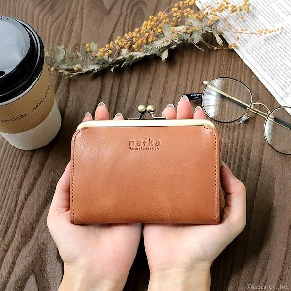 ナフカのレディースがま口財布