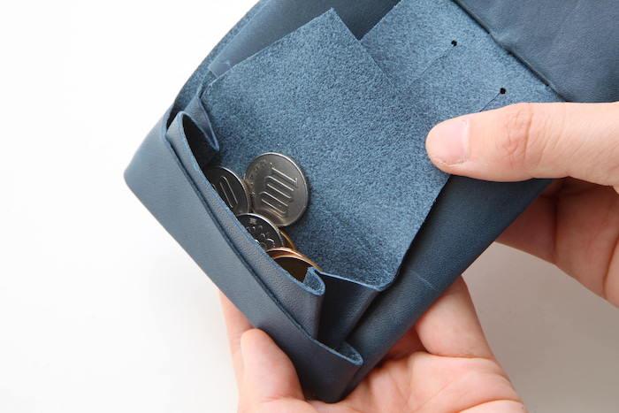1万円台メンズ革財布「所作」の小銭入れ部分