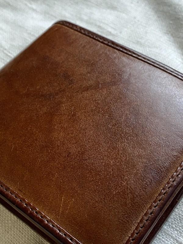 sotプエブロ二つ折り財布を2年使った経年変化