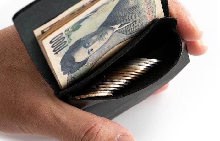 1万円台メンズ革財布「syrinx」の小銭入れ部分