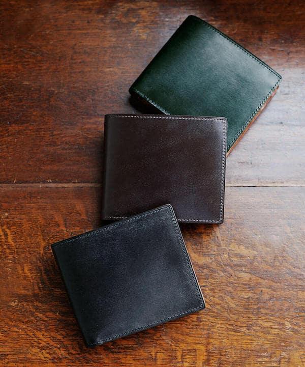 土屋鞄製造所のブライドル二折財布