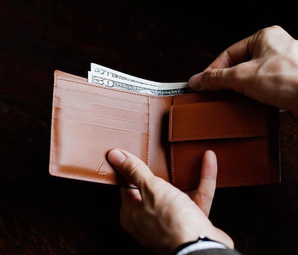 土屋鞄製造所のブライドル二折財布の内装