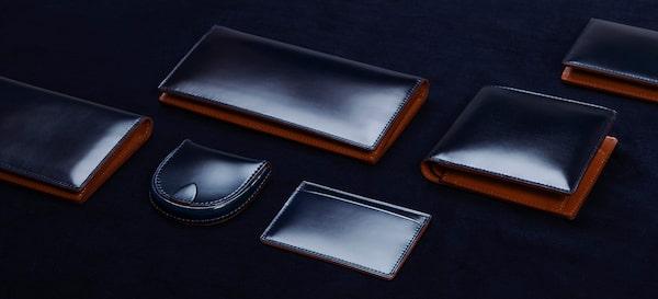 土屋鞄製造所のコードバン二折財布限定カラー