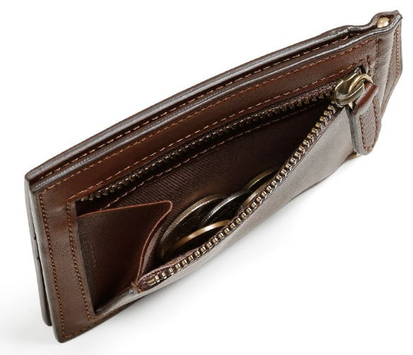 土屋鞄製造所のメンズマネークリップの小銭入れ部分