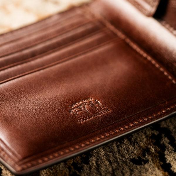 ココマイスター「ロンドンブライドル二つ折り財布」の内装