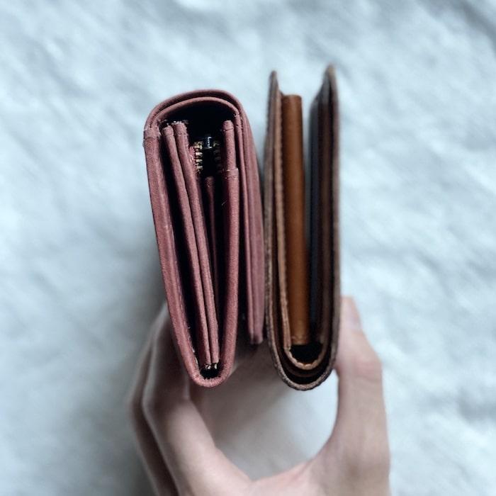 hallelujah二つ折り財布の厚み