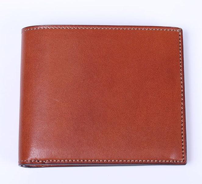 万双の双鞣和地二つ折り財布